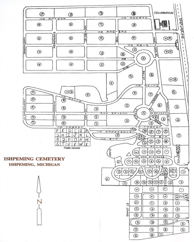 Ishpeming Cemetery Map