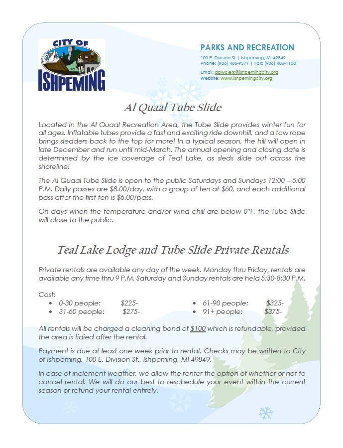 tube slide info
